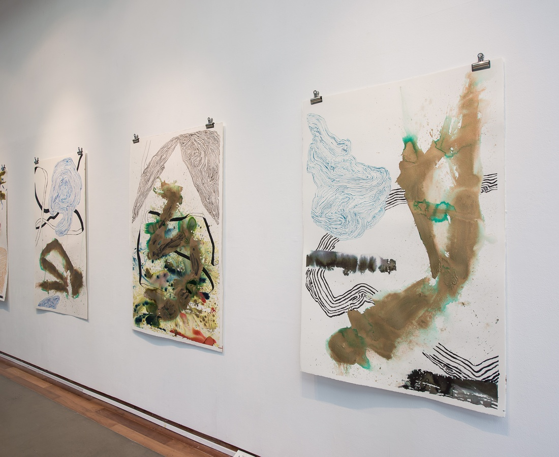 Narcisissim of Minor Differences, set of 4 works on paper, installation at ICA Singapore, Praxis Space.